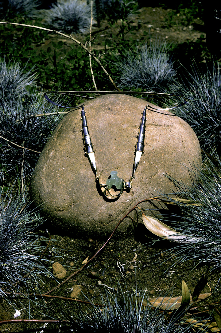 Toza, necklace, gold with aquamarine, 1969